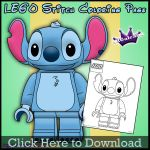 Lego Stitch Coloring Page by SKGaleana by SKGaleana