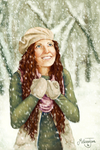 Snowflakes That Stay on My Nose and Eyelashes by melissyjane