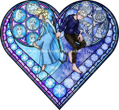 Stained Glass: Frosted Love by Akili-Amethyst