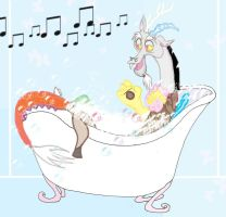 Chaos Diva in the bathtub by Selinelle