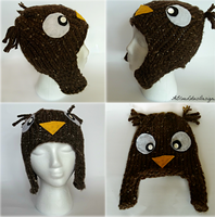 Owl Hat by ABlueLotusDesigns