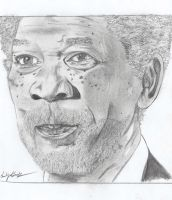 Morgan Freeman by E-H-Redlum