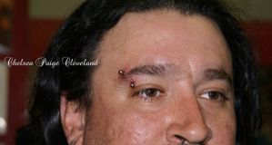 Eyebrow piercing - male - feb 2013 by SmilinPirateTattoo
