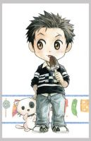 kiddy,cat and ice cream by kinly