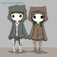 Sword Art Online OC's, Kiryu and Helly by TheSpiderAdventurer