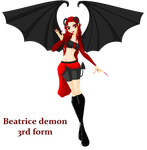 Beatrice demon 3rd form by Beatrice-Dragon-Team