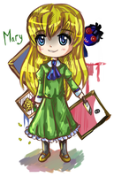 Ib- Mary chibi by Angelmewkaro