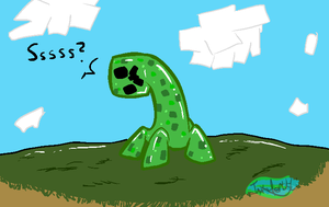 Confused Creeper by MochiFries