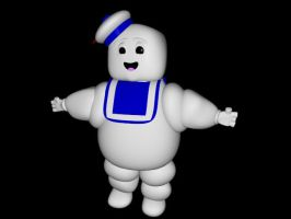 The Stay Puft Marshmallow Man by Etrocal