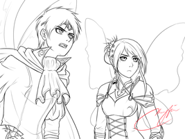 Fantasized Eren and Veena WIP by Vhenyfire