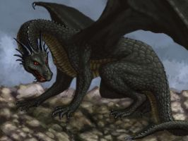 Heroes of Might and Magic - black dragon by A-De