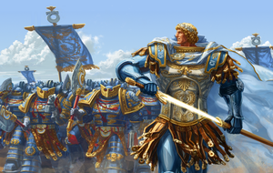 Guilliman leading Ultramarines by LynxC