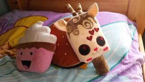 Frappalope: Popsicle plush by Catzilerella