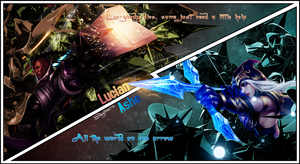 Lucian and Ashe signature by SkylinerzEx