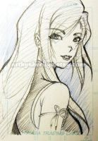 FF Tifa Fanart Sketch ACEO by Sherilyn