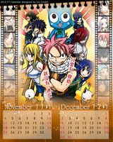 2012 FT Calendar --Nov. Dec.--fairy tail members by icecream80810