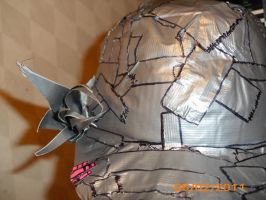 duct tape hat with flower by toastles