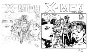 X-Men pencils and inks by artistjoshmills