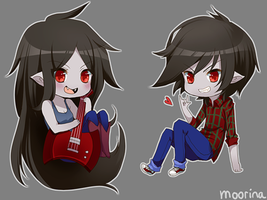 Marceline and Marshall Lee by Moorina
