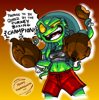 Turkey Boxing Champ by DaKraken