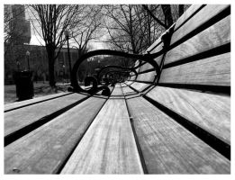 Town square bench by anotherview