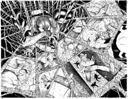 Amazing Spider-Man 665 spread by Frisbeegod
