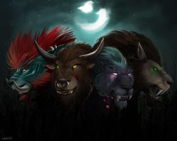 Druid cats - Wallpaper by Brissinge