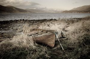 Old Wooden Boat by KennethSolfjeld
