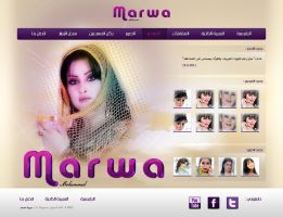 Marwa personal web by yomo01