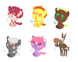 Warpainted Pony Adopts : CLOSED by zafara1222