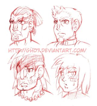 FOTSD Character Heads Pencil by gh07