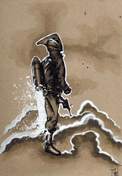 Rocketeer Sketch by skunk4gwop