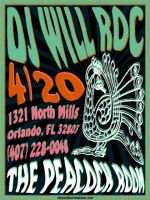 DJ Will Roc 420 Party poster by cwylie0