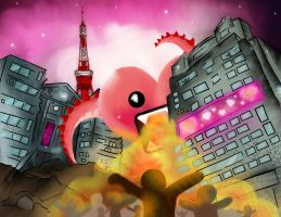 The attack of the heartzilla by Himu-Chan