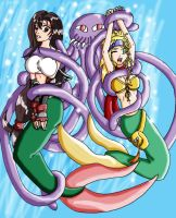 Final Fantasy Mermaids caught by Wing-Saber