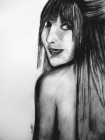 charcoal on canson paper. by psychopathic-jad