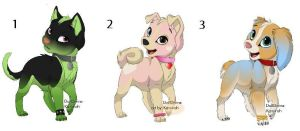 1 Point Adoptables- Puppies :::Open::: by Stella-Kitty