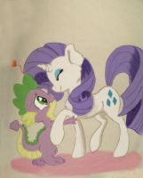 Little dragon's love by Thorinstrawberry