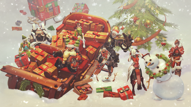 Christmas crash | Overwatch by Shmagomolova