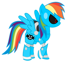 Sonic Equestria Vector - Metal Rainbow Dash by cooleevee759