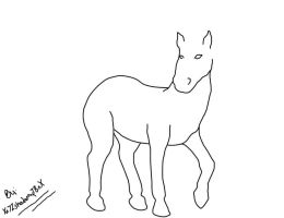 Free Horse Lineart! by mindlessmutt