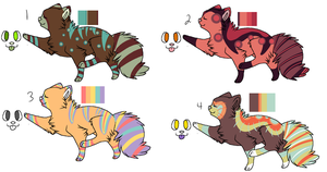 Feline Adoptables B1-Closed by PepperMintAdopts
