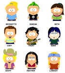 TDI Characters South Park-ized by SurferSasquatch10