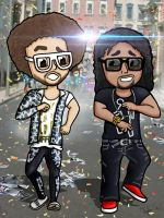 LMFAO - Party Rock Anthem cartoon by ClaytonSnow