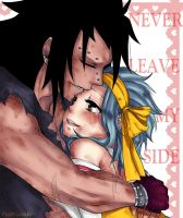 After battle hugs ~Gajeel x Levy by PastrieCake