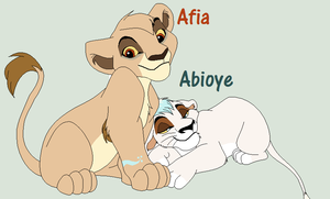 Afia and Abioye by Cece-Edgars-Sister