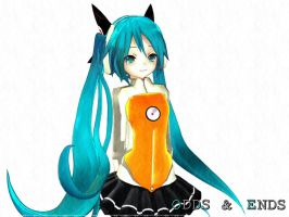 Miku Hatsune ODDS and ENDS by miza-ky