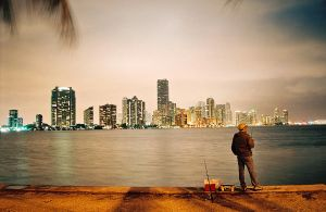 Fisherman and city life by zeromotion28