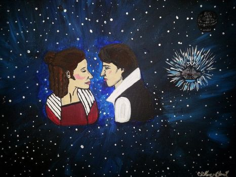 Han Solo and Princess Leia by CreativeHand9