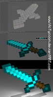Minecraft 3D Sword DOWNLOAD by VicTycoon